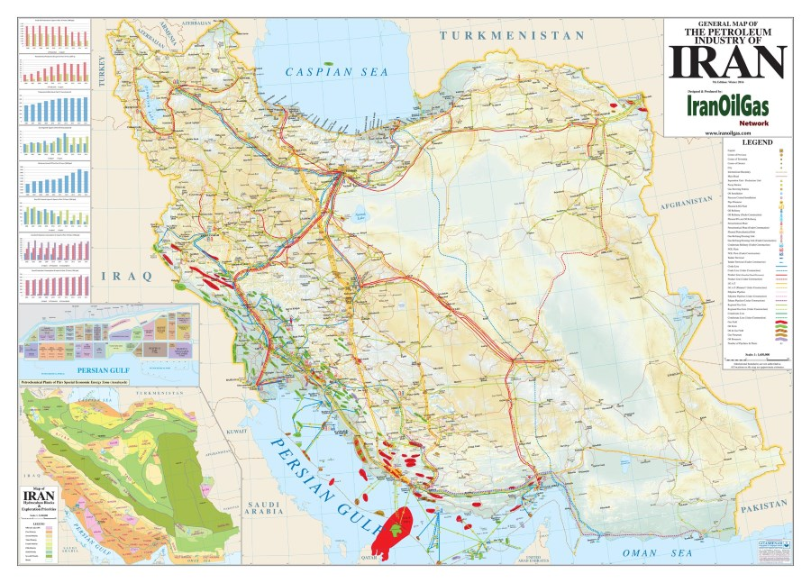 Middle East Iran Petroleum Maps IranOilGas Network - Map of iran
