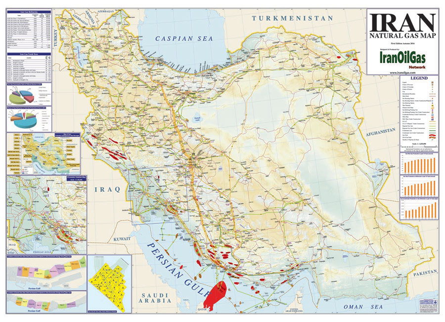 Iran Natural Gas Map